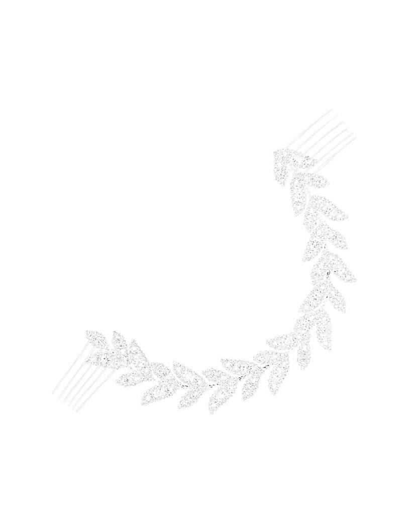 Eva Diamante Leaf Double Comb
