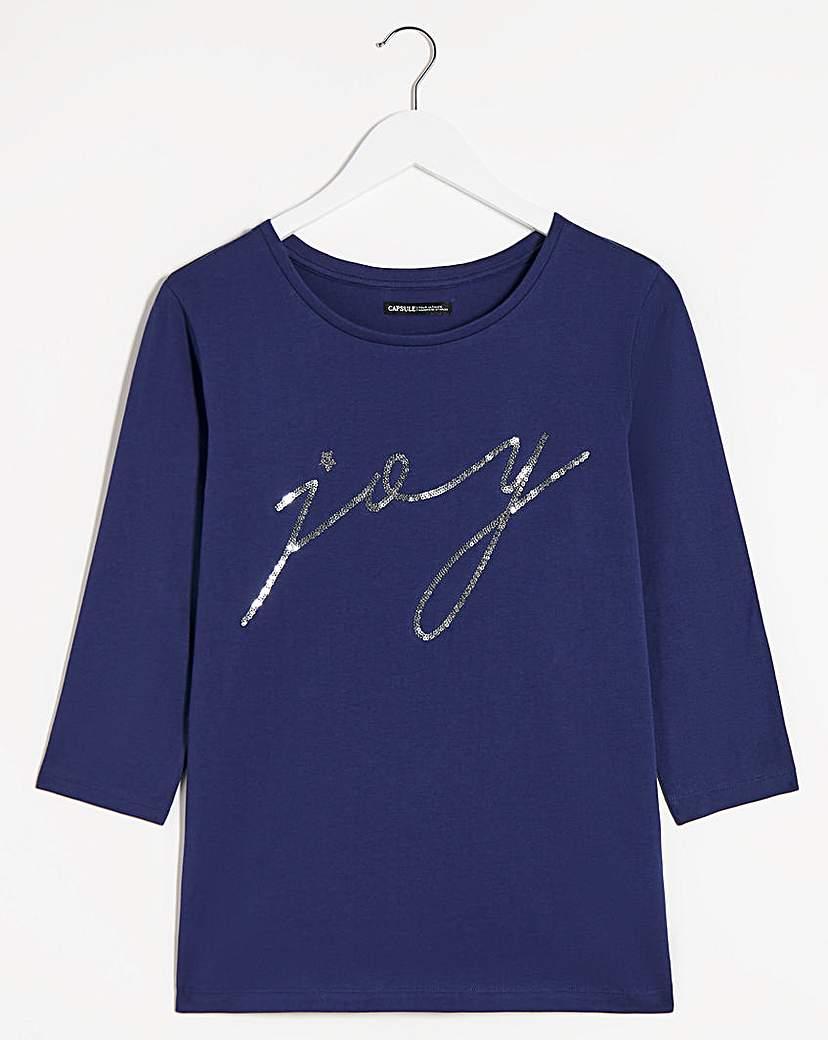 Capsule Joy Novelty 3/4 Sleeve Top