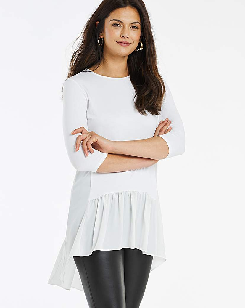 JD Williams Woven Hem Top