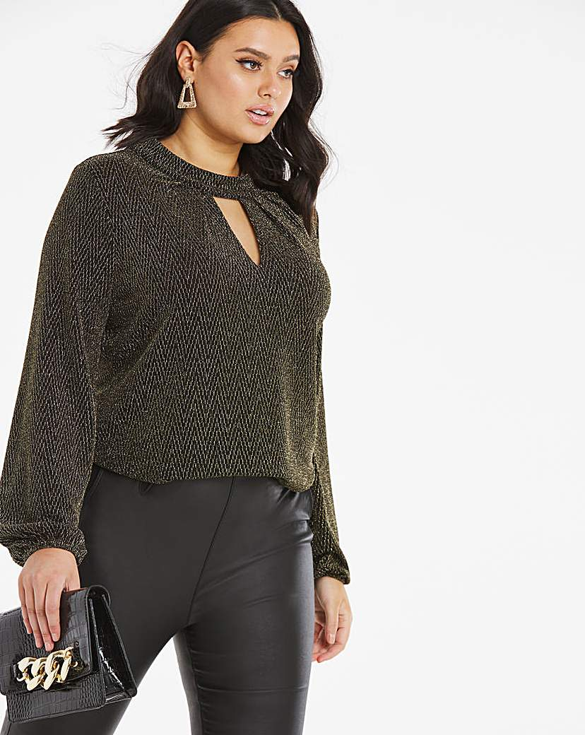 JD Williams Lurex Jersey Top/ Glitter Top