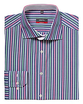 Eterna Mighty Multi Striped Shirt