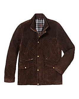 &Brand Mighty Quilted Suede Jacket