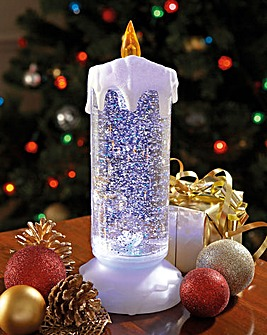 Colour Changing Snow Flurry Candle