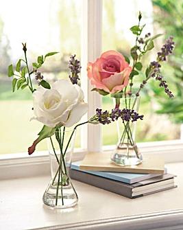 Everlasting Rose and Lavender Vase