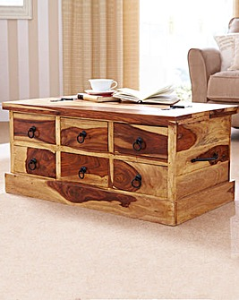 Blonde Storage Coffee Table