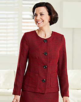 Round Neck Tweed Jacket