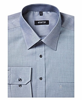 Eterna Mighty Plain Chambray Shirt