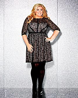Gemma Collins Lace Skater Dress