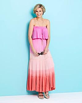 Dip Dye Bandeau Maxi Dress