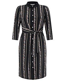 Monsoon Flora Stripe Printed Dress