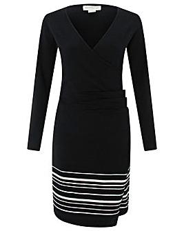 Monsoon Saskia Stripe Wrap Dress