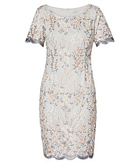Gina Bacconi Janice Embroidered Dress