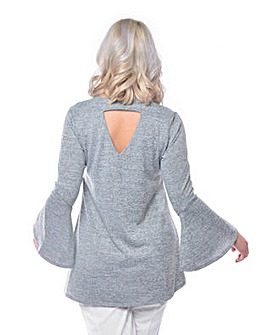 Grace tunic with keyhole rear