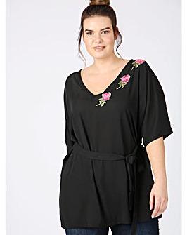 Lovedrobe GB Black Kimono Top