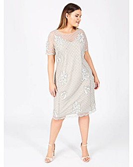 Lovedrobe Luxe grey shift dress