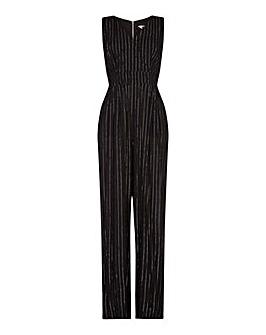 "Yumi Curves Lurex Pinstripe Jumpsuit """