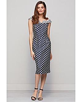 Gina Bacconi Trinny Jacquard Spot Dress