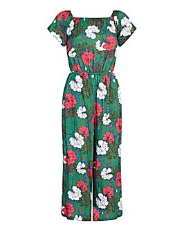 Yumi Curves Floral Print Off The Shoulde