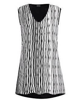 Grace striped tunic with contrast rear