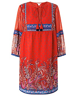 Monsoon Victoria Paisley Print Dress