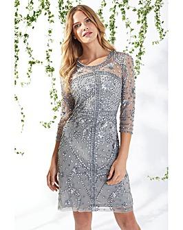 Gina Bacconi Mariella Beaded Dress