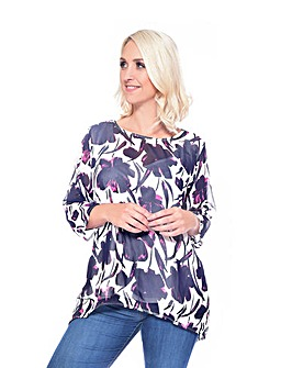 Grace chiffon tunic with lining