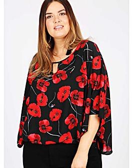 Lovedrobe GB black floral kimono top