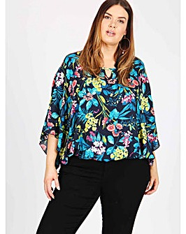 Lovedrobe GB floral print kimono top