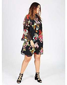 Lovedrobe GB floral print shift dress
