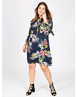 Lovedrobe GB tropical print shift dress