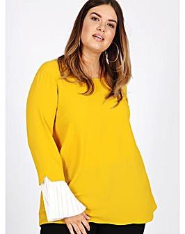 Lovedrobe GB mustard blouse
