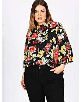 Lovedrobe GB floral 3/4 sleeve blouse