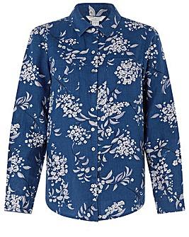 Monsoon Dahlia Print Linen Shirt