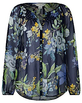 Monsoon Ophelia Silk Print Blouse