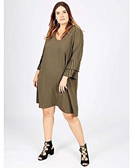 Lovedrobe GB khaki shift dress