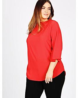 Lovedrobe GB Red 3/4 sleeve blouse