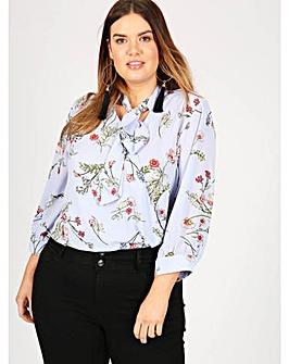 Lovedrobe GB blue floral print blouse
