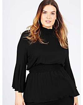 Koko black sheering turtle neck top