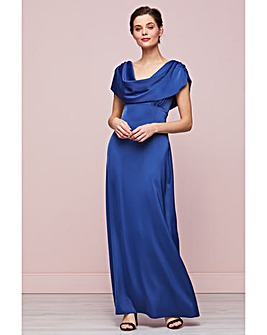 Gina Bacconi Aurora Satin Maxi Dress