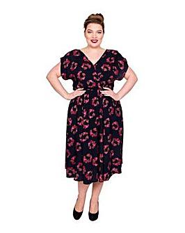 Scarlett & Jo Wrap Front Pocket Dress