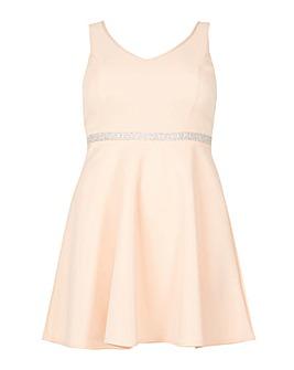 Be Jealous V Neck Embellished Dress