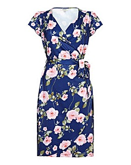 Yumi Curves Rose on a Vine Wrap Dress