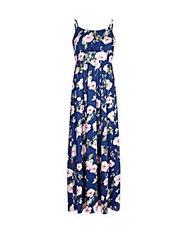Yumi Curves Pleated Floral Maxi Dress