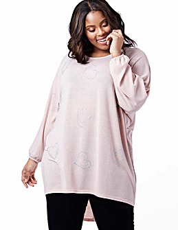 Blue Vanilla Curve Oversized Batwing Top