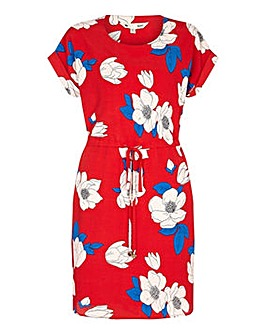 Yumi Curves Floral Drawstring Dress