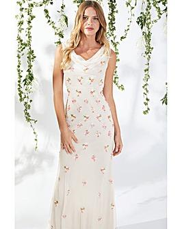 Gina Bacconi Sophia Beaded Maxi Dress