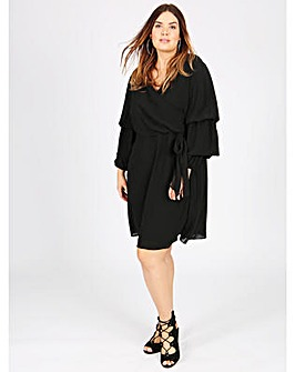 Koko black wrap dress