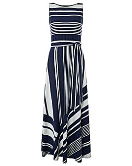 Monsoon Matty Stripe Maxi Dress