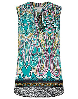 Monsoon Georgie Paisley Sleeveless Top