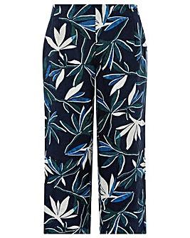 Monsoon Bonita Print Linen Trouser